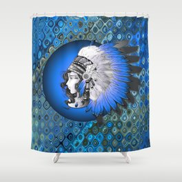 Whimsical Indian Girl Shower Curtain
