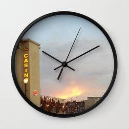 Gambler's sunset Wall Clock