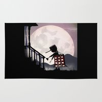 dalek Area & Throw Rugs featuring Dalek Kid by Andy Fairhurst Art