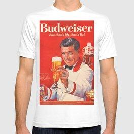 1960 Vintage Beer Poster Advertisement - Retro Advertising T-shirt