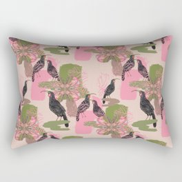 Huias and Proteas Rectangular Pillow