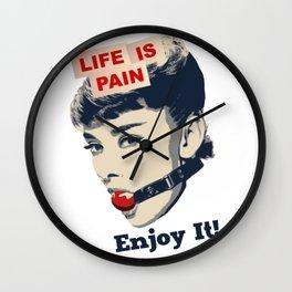 Life is Pain Wall Clock