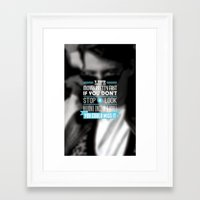 "ferris bueller Framed Art Prints featuring ""FERRIS BUELLER"" Typography Poster by Mike Sapienza"