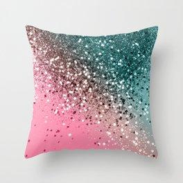 Tropical Watermelon Glitter #2 #decor #art #society6 Throw Pillow