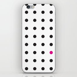 The Unruly Pink Dot iPhone Skin