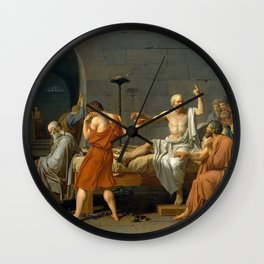 Jacques Louis David The Death of Socrates Wall Clock