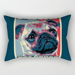 Pugs Not Drugs Funny Propaganda Rectangular Pillow