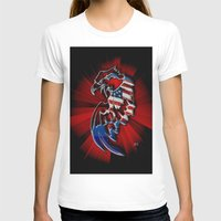 patriotic T-shirts featuring Patriotic Eagle by Mr D's Abstract Adventures