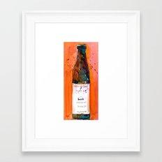 Maine Lunch IPA beer bottle Framed Art Print