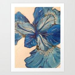 Blue Orchid Flower Art Print