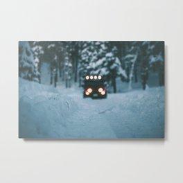 Winter Jeep Metal Print