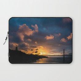 Sunset Lisbon | Skyline Lisbon Photography | Landscape Photography Laptop Sleeve