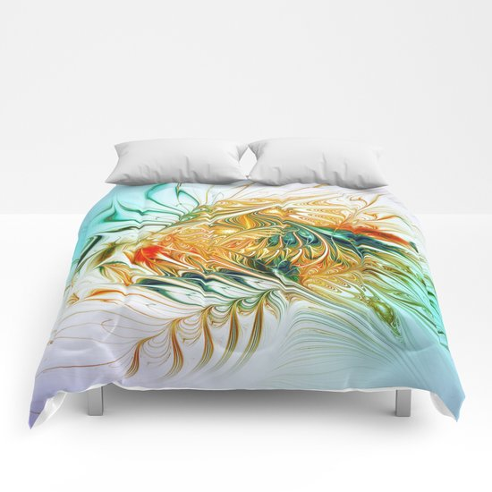 Gently Moving Waves Comforters