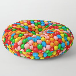 Mini Gumball Candy Photo Pattern Floor Pillow