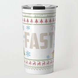 Drag Racing Shirt Christmas Ugly Shirt Fast Drag Race Shirt Travel Mug