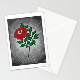 Caught -Eyeball Flower Stationery Cards