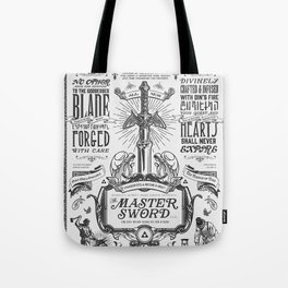 Legend of Zelda Vintage Master Sword Advertisement Tote Bag