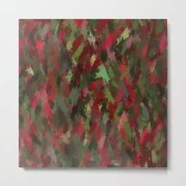 Red and green colorful print Metal Print