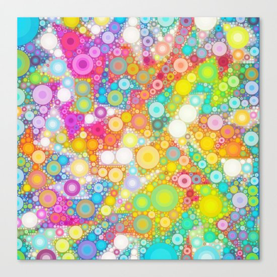 Sunny Bubbles on the Water Canvas Print