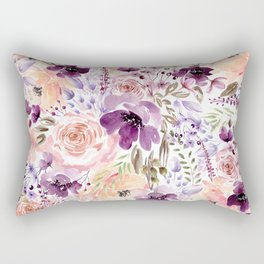 Floral Chaos Rectangular Pillow