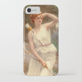 Guillamume Seignac Diana The Huntress 1870 Roman Mythology Goddess Of The Hunt Moon And Nature iPhone Case