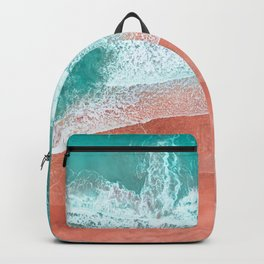 The Break - Turquoise Sea Pastel Pink Beach II Backpack