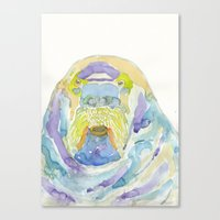 walrus Canvas Prints featuring Walrus by Catherine Johnson