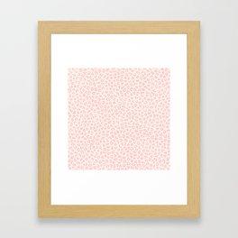 Modern ivory blush pink girly cheetah animal print pattern Framed Art Print