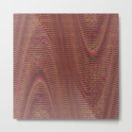 Abstract Woven Threads Mauve Metal Print