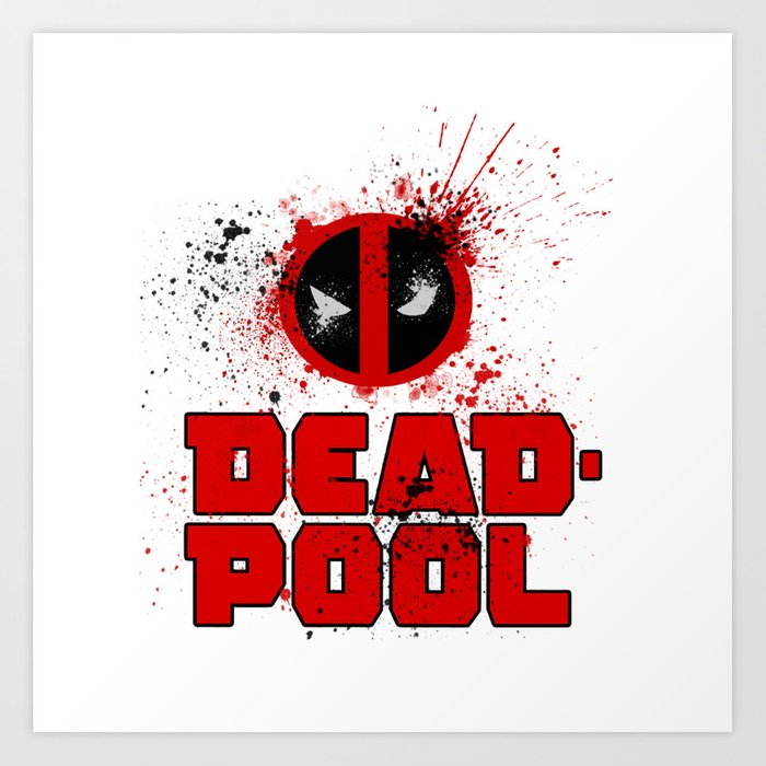 Deadpool Logo Art Print By Metalot Society6
