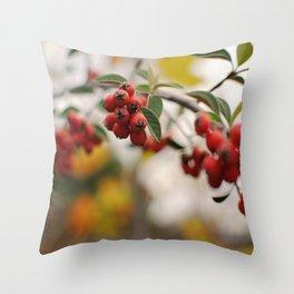 Fall Holly Throw Pillow
