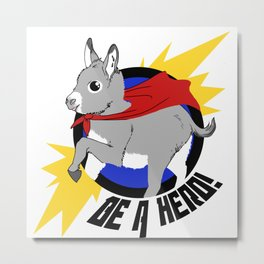 Mini Donkey Metal Print