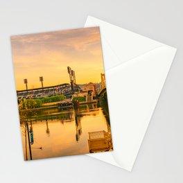 Pittsburgh Baseball Park Sunrise City Print Stationery Cards