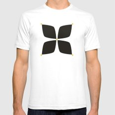 Black Jasmine Mens Fitted Tee SMALL White