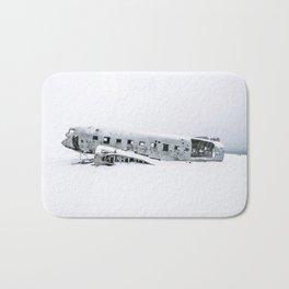 Plane Wreck in Iceland in Winter - Landscape Photography Minimalism Bath Mat