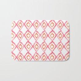 Fiery Coral - aztec watercolour pattern Bath Mat