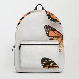 Two Orange Butterflies Backpack