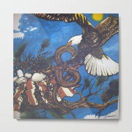 Eagle Vs. Snake Metal Print