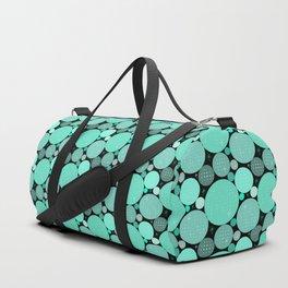 Project 457   Retro Seafoam Polka Dots Duffle Bag