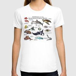 Animals of the Hawaiian Coral Reefs T-shirt