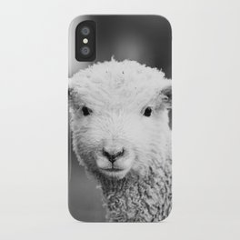 Lamb in Black and White iPhone Case