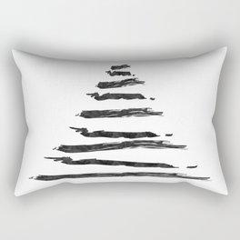 Modern Christmas Tree Rectangular Pillow
