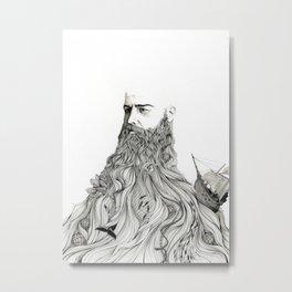 The Captain Metal Print