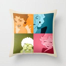 The Golden Girls Abstract Throw Pillow