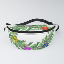 Decorated Christmas wreath  Fanny Pack