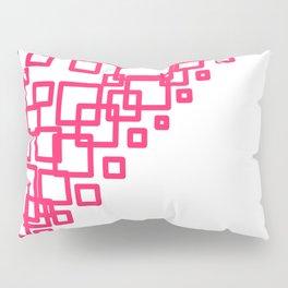 design blocks pink on white Pillow Sham