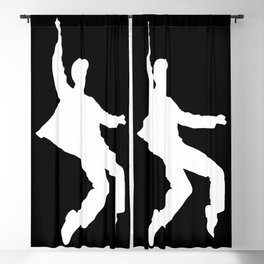 White Elvis Blackout Curtain