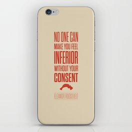 Lab No. 4 - Eleanor Roosevelt Typography Quotes Poster iPhone Skin