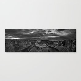 Horseshoe_HDR_Panorama_BW Canvas Print