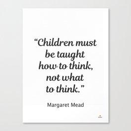 Margaret Mead quote Canvas Print